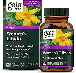 Gaia Herbs Womens Libido, Vegan Liquid Capsules, 60 Count - Healthy Female Libido, Support with Epimedium (Horny Goat Wee...