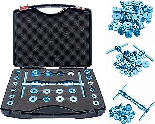 自行车轴承压力机套装,车轮轮毂转折点通用循环轴承压力机组软轮/轮毂轴承转弯针轴承轮毂组装工具,用于自行车维修(黑色+蓝色)