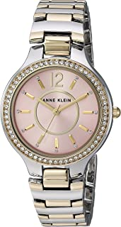 Anne Klein Women's Swarovski Crystal Accented Tone Bracelet Watch