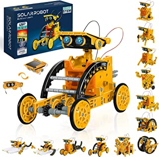 STEM 12 合 1 教育太阳能机器人玩具,太阳能和电池供电 2 合 1 DIY 搭建学习科学实验套件,适用于 8 岁及以上儿童