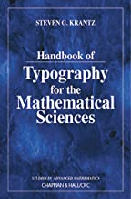 Handbook of Typography for the Mathematical Sciences (Studies in Advanced Mathematics) (English Edition)