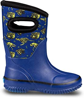 ZOOGS Muck and Rain Boots 女童、男孩和幼儿 | 儿童橡胶靴