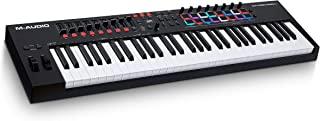 M-Audio Oxygen Pro 61 – 61 键 USB MIDI 键盘控制器 带节拍垫 MIDI 可分配控制器 键和推杆 包含软件包