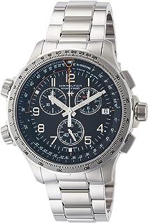 [HAMILTON]HAMILTON 手表 卡其色 X-Wind GMT 计时码表 H77912135 男士
