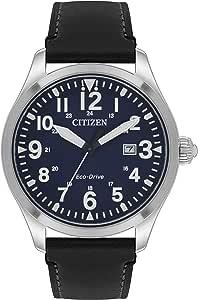 Citizen 西铁城 男式光动能模拟手表 皮革表带 BM6831-41L
