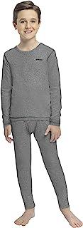 男童保暖内衣(保暖长袜)袖长衬衫和裤子套装,打底裤,滑雪/极端寒冷