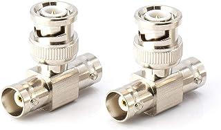 THE CIMPLE CO BNC T 适配器 - T型同轴分配器 - 1 个公头端口到 2 个母头,同轴电缆延长器 - 10 包