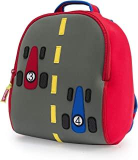 Dabbawalla Bags Fast Track Race Cars Kids' Preschool & Toddler Backpack Grey/Red/Blue