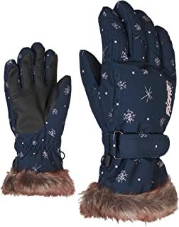Ziener 女童 LIM 青少年滑雪手套,冬季运动,温暖,透气