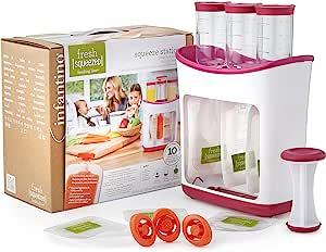 Infantino 婴智宝 辅食料理机 挤压机,含10个挤压袋,白色