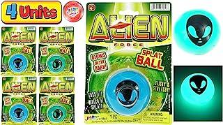 JA-RU 外星人飞溅球在黑暗中发光粘性&弹性(12 件装)减压飞溅玩具*玩具缓解*派对用品收藏压力玩具5569- 4 Units