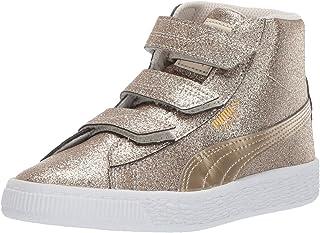 PUMA Kids' Basket Mid Strap Glitz V Ps Sneaker