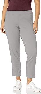 SLIM-SATION 女式加大码套穿纯色九分裤