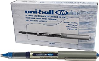 UNI - BALL ub157*圆珠笔 Fine 0.7毫米尖头0.5毫米线宽12件蓝色