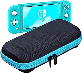 ButterFox 超薄紧凑便携保护套适用于 Nintendo Switch Lite ,带 19 个游戏和 2 个微型 SD 卡夹,Switch Lite 配件存储(蓝绿松石色/黑色)