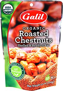 Galil 100% Organic Whole Roasted Chestnuts, 3.5-Ounce Bags (Pack of 24)