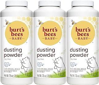 Burt's Bees Baby 天然爽身粉 无滑石粉 7.5盎司(210g)瓶 (3瓶装)