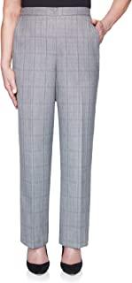 Alfred Dunner 女式格子修身短款直筒裤