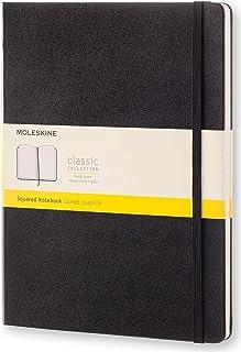 Moleskine 黑色硬面方格笔记本 (加大型)