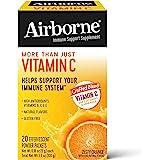 Airborne Zesty 柑橘泡腾片(20盒装),维生素C 1000毫克(每份),无麸质,机体抵抗能力支持补品,含维…
