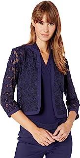 Anne Klein 女士花朵蕾丝网纱开衫