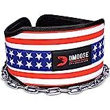 DMoose 健身高级皮带带链条 - 91.44cm 重型钢链,舒适贴合氯丁橡胶,双线缝合 - *大程度提高您的举重和塑…