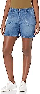 Gloria Vanderbilt 女式时尚实用 6 英寸(约 15.2 厘米)中筒大腿短裤