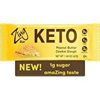 Zing Bars Keto Low Carb Protein Bar | Peanut Butter Cookie D…