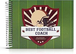 Recognition Award Booklet for Being The Best Football Coach - 足球礼品 - 24 页,包含贴纸和卡 - 送给运动员、运动迷和教练的奇妙个性化礼品创意