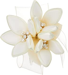 [VENDOME BOUTIQUE]丝绸 珍珠 宝石 胸花 VBUS8001 W2