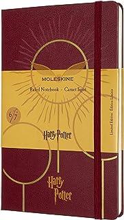 Moleskine 哈利波特限量版笔记本,硬封面,大号(5 英寸 x 8.2 英寸)横格/内衬,波尔多红(6 册)240 页