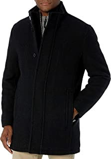 Cole Haan 男式羊毛格子车外套,带围嘴