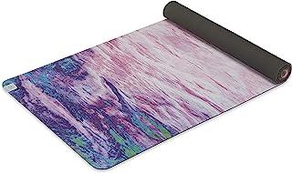 Gaiam 柔软抓地瑜伽垫 - 超细纤维毛巾顶部带橡胶背衬双面瑜伽和运动垫 适用于热瑜伽、日落