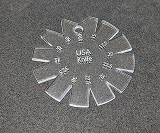 刀刃规格 15°-120° 透明亚克力 - USA 刀 - 美国制造