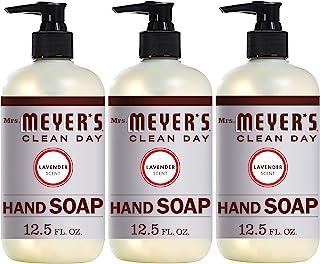 Mrs. Meyer's Clean Day 液体洗手液,无刺激性,可生物降解,用精油制成,薰衣草香味,12.5 盎司/370毫升 3 件装