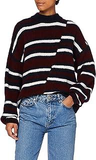 Superdry 极度干燥 女士 Chunky Mismatched 条纹圆领套头毛衣