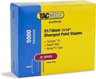 Tacwise 1616 91/18 mm 分歧点窄皇冠订书钉,金属