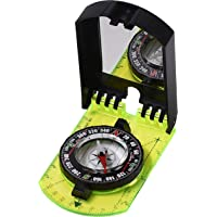 TurnOnSport 瞄准镜指南针 - 男孩童子军指南针徒步生存 - 地图阅读指南针定向 - 镜子指南针狩猎钓鱼…