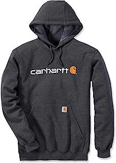 Carhartt 男士标志连帽中等重量运动衫