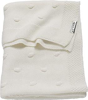 Meyco 2733050 婴儿毛毯针织结75 x 100厘米 米白色/白色