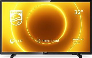 Philips 飞利浦 32PHS5505/12 32 英寸 LED 电视(Pixel Plus HD,全范围扬声器,2 x HDMI,USB)黑色光泽 [ 2020 年 ]