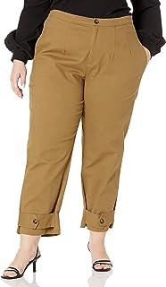 KENDALL + KYLIE 女式束带九分斜纹裤