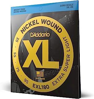 D'Addario EXL180 XL 镍绕线超轻 (.035-.095) 电贝斯吉他弦