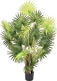 GreenBrokers 人工 120 厘米手指棕榈树,盆栽植物,A1134