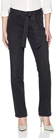 NYDJ 女式小号玛丽莲直筒裤,带裤子细节