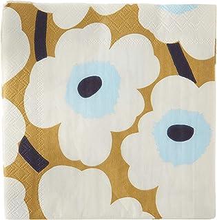Boston International IHR Marimekko 鸡尾酒餐巾纸,5 x 5,Unikko 奶油色/金色
