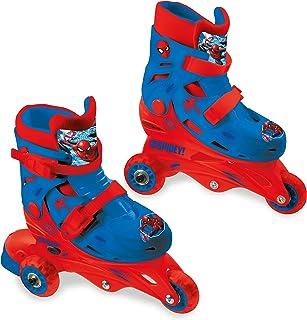Mondo Toys – 漫威蜘蛛侠 – 3 直排轮滑鞋 – 可调节双功能 – PVC 轮子 – 适合男孩/女孩 – 尺码 S / 尺码 29/32 – 28631