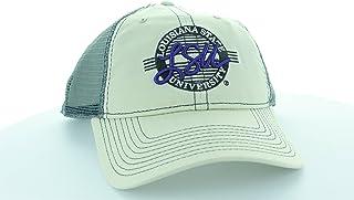 Game LSU Tigers 石头/灰色圆形帽子带网格卡车司机风格
