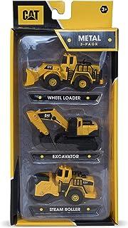 Caterpillar 82274 CAT 压铸构造 3 件装轮式装载机/蒸汽滚筒/挖掘机,黑色