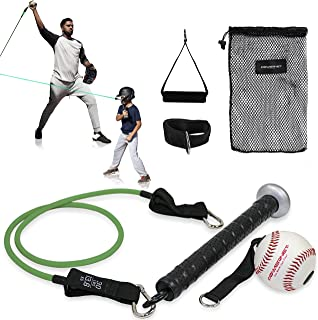 PowerNet 蝙蝠手柄阻力训练器   棒球垒球训练辅助器   包括可互换的握把来增强手臂力量   非常适合热身或冷却
